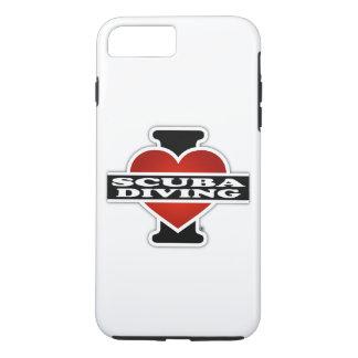 J'aime la plongée à l'air coque iPhone 7 plus