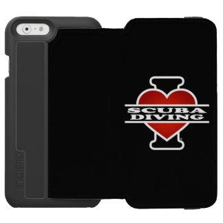 J'aime la plongée à l'air coque-portefeuille iPhone 6 incipio watson™