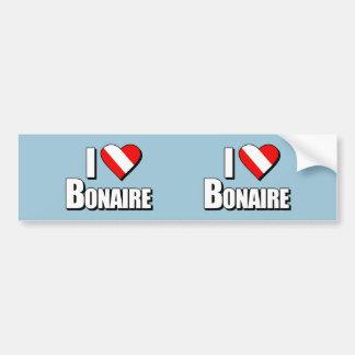 J'aime la plongée de Bonaire Autocollant De Voiture