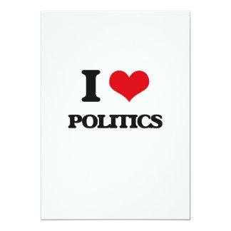 J'aime la politique carton d'invitation  12,7 cm x 17,78 cm