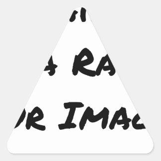 J'aime la Raie sur Image - Jeux de Mots Sticker Triangulaire