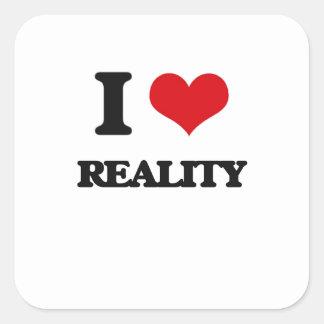 J'aime la réalité sticker carré