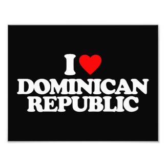 J'AIME LA RÉPUBLIQUE DOMINICAINE IMPRESSION PHOTO