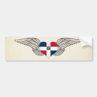 J'aime la République Dominicaine - ailes Autocollant De Voiture