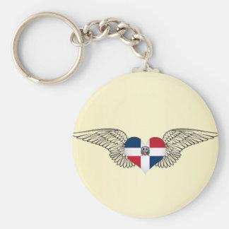 J'aime la République Dominicaine - ailes Porte-clé Rond