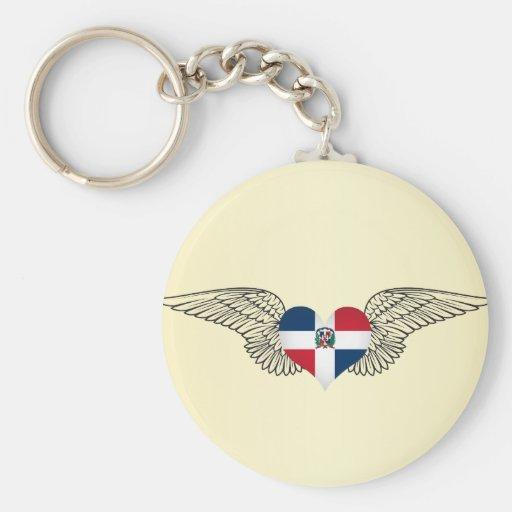 J'aime la République Dominicaine - ailes Porte-clef