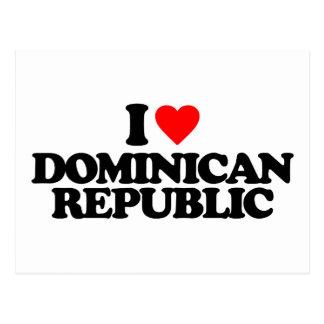 J'AIME LA RÉPUBLIQUE DOMINICAINE CARTE POSTALE