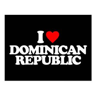 J'AIME LA RÉPUBLIQUE DOMINICAINE CARTES POSTALES