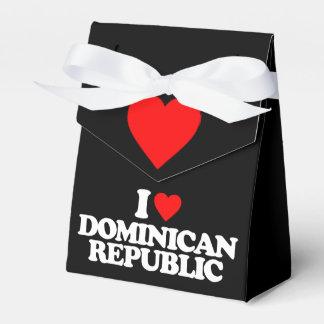 J'AIME LA RÉPUBLIQUE DOMINICAINE BOITES FAVEURS DE MARIAGE