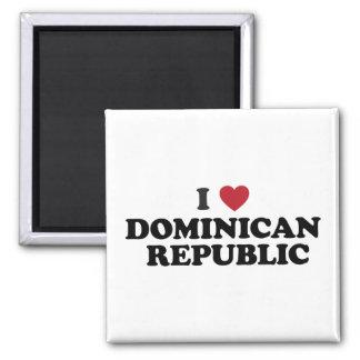 J'aime la République Dominicaine Magnet Carré