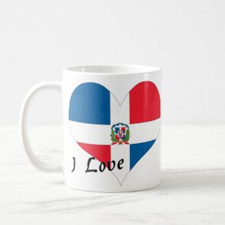 J'aime la République Dominicaine Mug Blanc