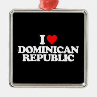 J'AIME LA RÉPUBLIQUE DOMINICAINE DÉCORATIONS POUR SAPINS DE NOËL