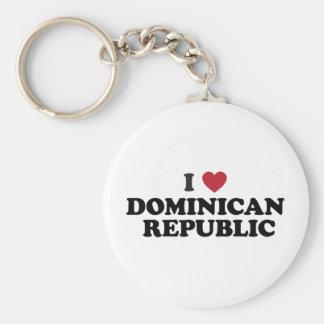 J'aime la République Dominicaine Porte-clé Rond