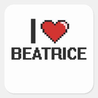 J'aime la rétro conception de Béatrice Digital Sticker Carré
