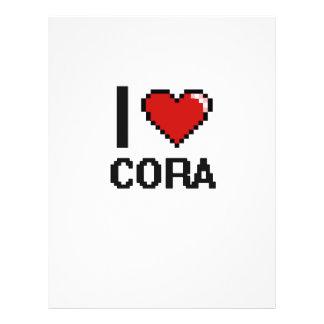 J'aime la rétro conception de Cora Digital Prospectus 21,6 Cm X 24,94 Cm