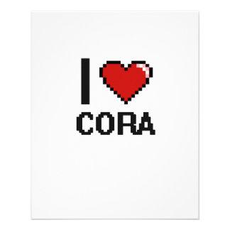 J'aime la rétro conception de Cora Digital Prospectus 11,4 Cm X 14,2 Cm