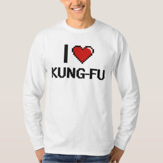 J'aime la rétro conception de Kung-Fu Digital T-shirt