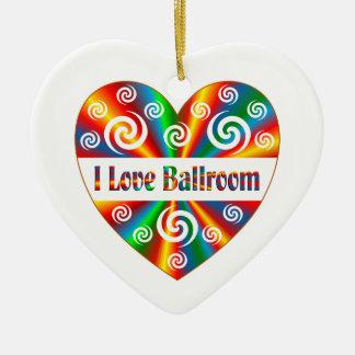 J'aime la salle de bal ornement cœur en céramique