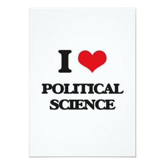 J'aime la science politique invitation personnalisable