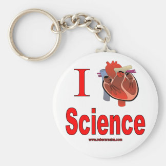 J'aime la Science Porte-clé Rond