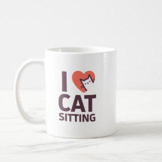 J'aime la séance de chat mug