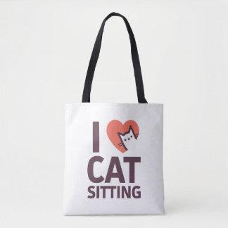 J'aime la séance de chat tote bag