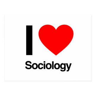 j'aime la sociologie carte postale