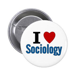 J'aime la sociologie pin's