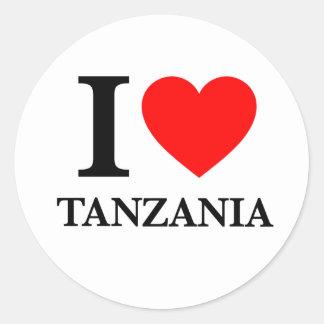 J'aime la Tanzanie Sticker Rond