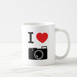 J'aime la tasse d'appareils-photo