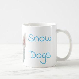 J'aime la tasse de café de chien de traîneau