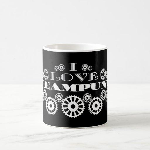 J'aime la tasse de café de Steampunk