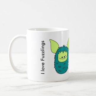 J'aime la tasse de Fuzzlings - Fuzzling vert