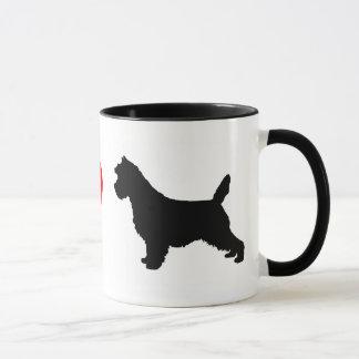 J'aime la tasse de terriers de cairn
