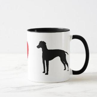 J'aime la tasse de terriers de Manchester