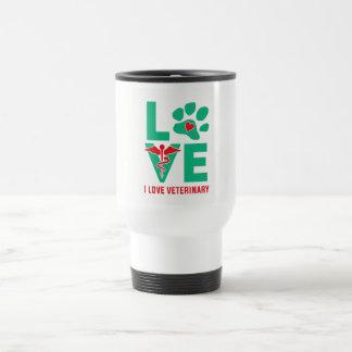 J'aime la tasse vétérinaire de voyage