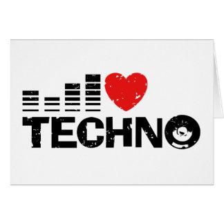 J'aime la techno carte de vœux