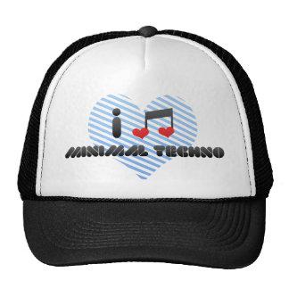 J'aime la techno minimale casquette trucker