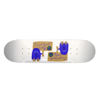 J'aime la terre de planète plateaux de skateboards