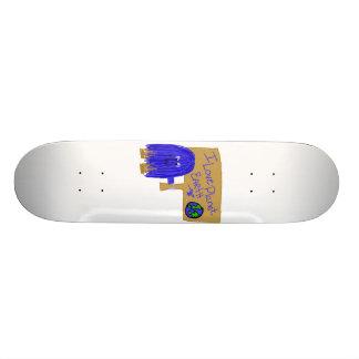J'aime la terre de planète skateboards personnalisés