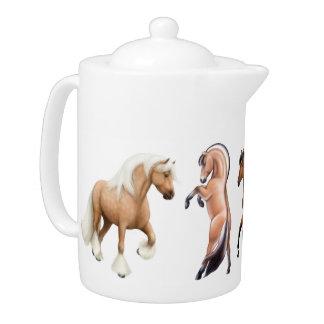 J'aime la théière de chevaux
