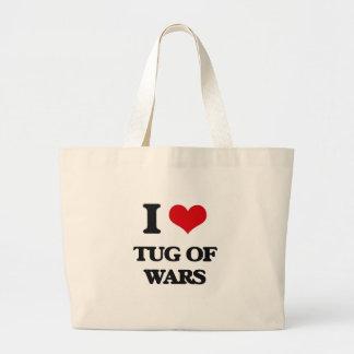 J'aime la traction subite des guerres sac en toile jumbo
