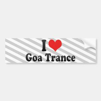 J'aime la transe de Goa Autocollants Pour Voiture