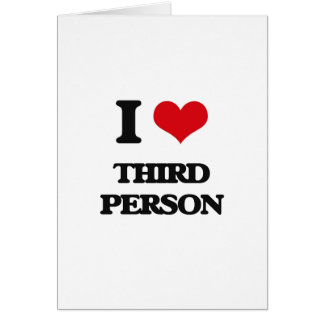 J'aime la troisième personne carte de vœux