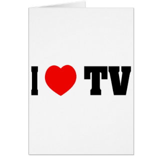 J'aime la TV Carte De Vœux