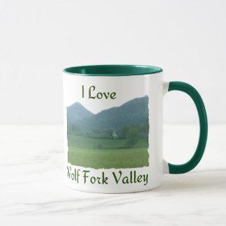 J'aime la vallée de fourchette de loup mug