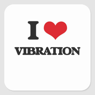 J'aime la vibration sticker carré