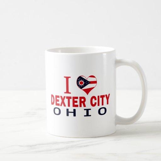 J'aime la ville de Dexter, Ohio Tasses