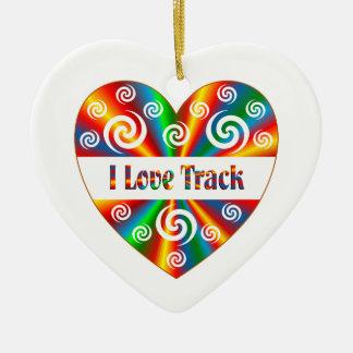 J'aime la voie ornement cœur en céramique