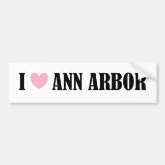 J'aime l'adhésif pour pare-chocs d'Ann Arbor Autocollant Pour Voiture